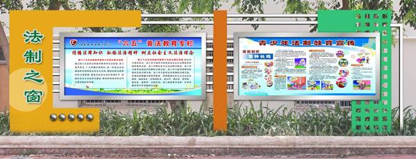 校园宣传栏设计,广大师生对聚奇很满意